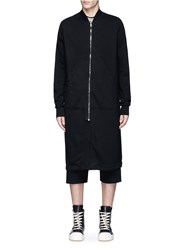 Rick Owens Long Bomber Jacket Black