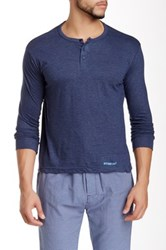 Bottoms Out Basic Henley Tee Blue