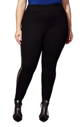 Mblm By Tess Holliday Plus Size Women's Lace Inset Leggings