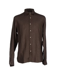 Valdoglio Shirts Shirts Men Dark Brown