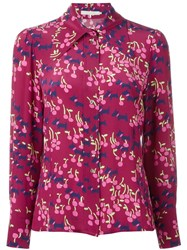 L'autre Chose Long Sleeve Shirt Pink And Purple