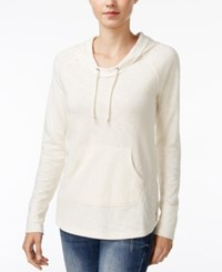 Roxy Juniors' Weekend Escape Pullover Hoodie White