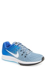 Nike Men's 'Air Zoom Structure 19' Running Shoes Blue Grey White Blue Glow