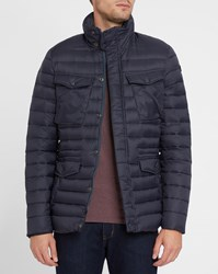Schott Nyc Navy Shaft Feather Down Jacket Blue