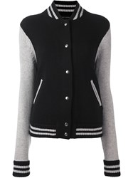 Marc Jacobs Knitted Varsity Jacket Black