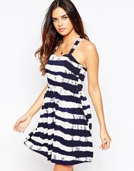 Sugarhill Boutique Nautical Stripe Sundress Navy