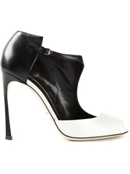 Sergio Rossi Contrast Pump Shoes Black