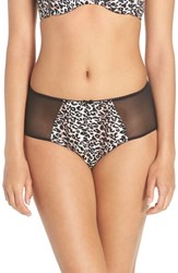 Betsey Johnson Women's 'Cutie Booty' High Waist Briefs Wild Kitty