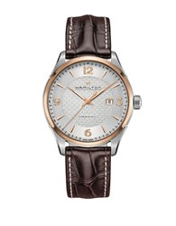 Hamilton Jazzmaster Viewmatic Sapphire Leather Band Watch Brown
