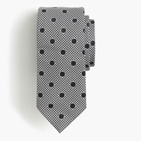 J.Crew Drake's Silk Tie In Dotted Houndstooth Navy