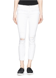 J Brand 'Cropped' Ripped Jeans