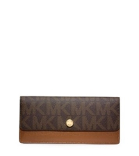 Michael Kors Jet Set Travel Logo Wallet Brown Luggage