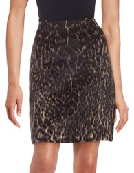 Kobi Halperin Leopard Print Mini Skirt Grey