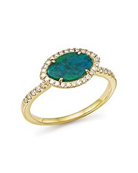 Meira T 14K Yellow Gold Opal Marquise Ring With Diamonds