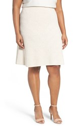 Nic Zoe Plus Size Women's 'Flirt' Textured Knit Skirt Rainy Day