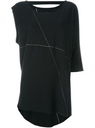 Thom Krom One Sleeve Asymmetric Top Black