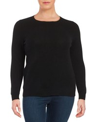 Lord And Taylor Plus Cashmere Crewneck Sweater Black