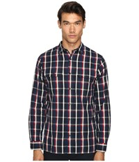 Vince Military Shirt Blue Red Men's Clothing