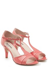 Repetto Daria Patent Leather Sandals Pink