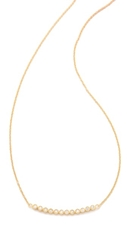 Jacquie Aiche Ja 12 Cz Bezel Curved Necklace Yellow Gold