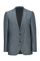 Hugo Dark Grey Virgin Wool Silk Amaro Heise Blazer