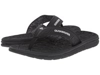 Quiksilver Fluid Black Grey Black Men's Sandals
