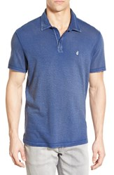 John Varvatos Men's Star Usa 'Peace' Trim Fit Polo Blue