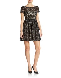 Abs By Allen Schwartz Lace Fit And Flare Dress Black