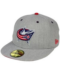 New Era Columbus Blue Jackets Heather Tc 59Fifty Cap Gray