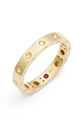 Roberto Coin Women's 'Symphony Pois Moi' Ruby Band Ring Yellow Gold