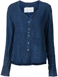 Greg Lauren 'Sexy Studio' Shirt Blue