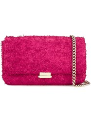 Scanlan Theodore Leather Tweed Crossbody Bag Pink And Purple