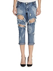 One Teaspoon Awesome Baggies Distressed Cropped Boyfriend Jeans Cobain