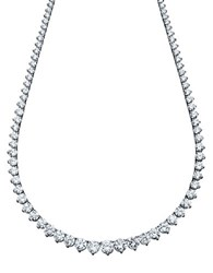 Crislu Sterling Silver And Cubic Zirconia Tennis Necklace