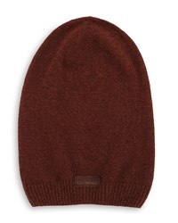True Religion Ribbed Slouchy Beanie Hat Coffee Bean