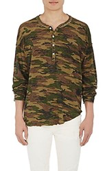 Nsf Men's Freddy Cotton Henley Green