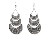 Gypsy Soule Aztec Etched Tiered Earrings Silver Earring