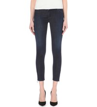 Armani Jeans Iris Skinny Mid Rise Cropped Jeans Denim