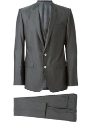 Dolce And Gabbana Three Piece Dinner Suit Grey