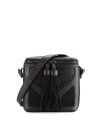 French Connection Heidi Faux Leather Crossbody Bag Black