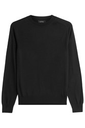 A.P.C. Wool Pullover With Silk Black