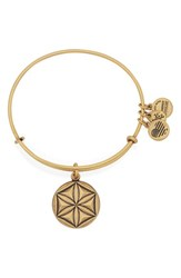 Women's Alex And Ani 'Aphrodites Flower' Expandable Wire Bangle