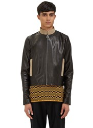 Wales Bonner Studio Leather Jacket Black