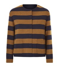 Max Mara Maxmara Weekend Kuens Striped Double Face Jacket Female Blue