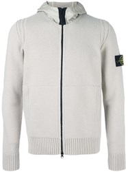 Stone Island Knitted Long Sleeve Hoodie Nude Neutrals