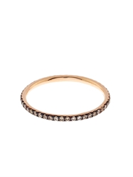 Ileana Makri Champagne Diamond And Rose Gold Ring
