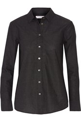 Equipment Leema Polka Dot Cotton Poplin Shirt Black