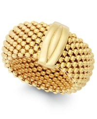 Macy's Mesh Ring In 14K Gold Vermeil Over Sterling Silver