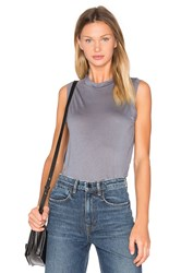 Alexander Wang High Neck Flared Tank Slate