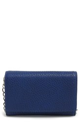 Phase 3 Faux Leather Wallet On A Chain Blue Blue Vintage
